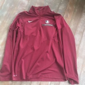 Nike Florida State pull over 1/4 zip
